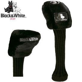 ブラック&ホワイト ヘッドカバー フェアウェイウッド用 ワッペンマジックテープ式 BWMG 0NH2