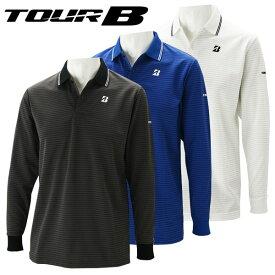 【クリアランスセール】 ブリヂストンゴルフ TOUR B ゴルフウェア メンズ 長袖ポロシャツ 1GJM1F 春夏