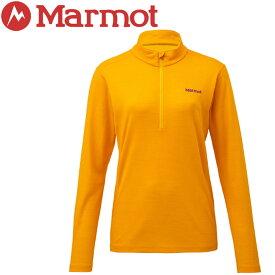 【クリアランスセール】 マーモット Ws Climb Wool L/S Zip 長袖シャツ レディース TOWNJB67-AYL