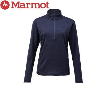 【クリアランスセール】 マーモット Ws Climb Wool L/S Zip 長袖シャツ レディース TOWNJB67-DNV