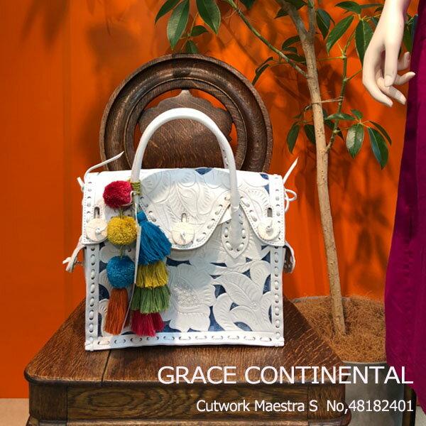 期間限定10%OFF SALE グレース グレースコンチネンタル Cutwork Maestra S カービングバッグ バッグ 鞄 GRACE CONTINENTAL 送料無料 48182401