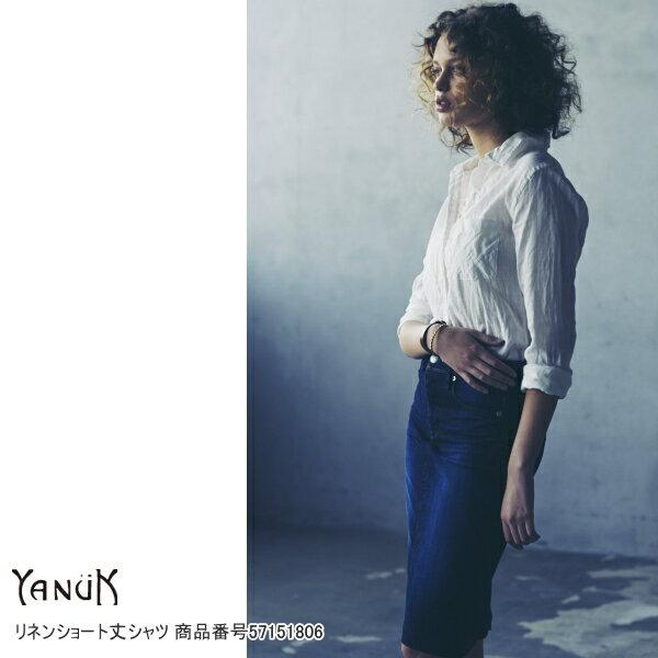 ヤヌーク セール SALE 20%OFF リネンショート丈シャツ YANUK 送料無料 楽天カード分割
