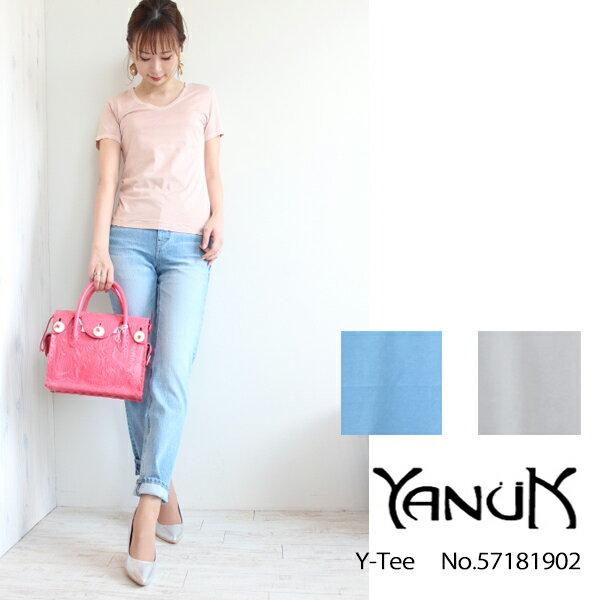 ヤヌーク Y-TEE,Tシャツ, YANUK 18SS 送料無料 57181902