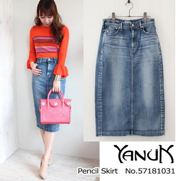 ヤヌーク Pencil Skirt YANUK 18SS 送料無料 57181031