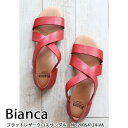 20054124-VA,Bianca,ビアンカ,新作,フラットレザークロスサンダル,サンダル,送料無料