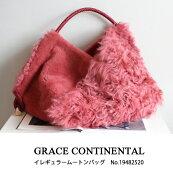 19482520,GRACECONTINENTAL,イレギュラームートンバッグ,グレースコンチネンタル,BAG,19AW,送料無料