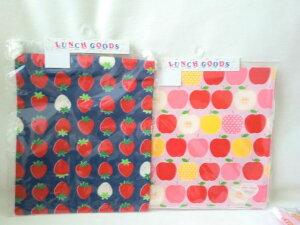 給食袋 巾着 M ランチクロス セット G2 フルーツ柄 りんご いちご 入園入学 日本製