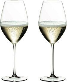 【2個セット・専用箱入】RIEDEL VERITAS リーデル ヴェリタス シャンパン シャンパーニュ 白ワイングラス 445ml シャンパン 白ワイン 高級 薄づくり うすはり おしゃれ プレゼント