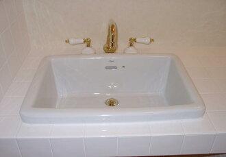 插圖陶瓷方形大 / 計數器手清洗機
