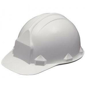 一般作業/工事用ヘルメット・ホワイト・FN2-1(ABS樹脂・内装一式/ワンタッチあご紐/ライナーなし)