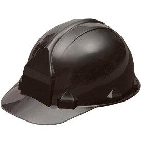 一般作業/工事用ヘルメット・ブラック・FN2-1(ABS樹脂・内装一式/ワンタッチあご紐/ライナーなし)
