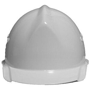 一般作業/工事用ヘルメット・ホワイト・BH-1B(ABS樹脂・内装一式/通気孔あり/ワンタッチあご紐/ベンチレーションタイプライナー付/ライナー付)