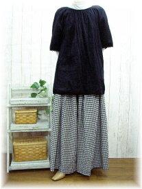 ♪予約販売10日間デリバリー黒白ギンガム・千鳥格子・マキシ袴・パンツM〜5L日本製