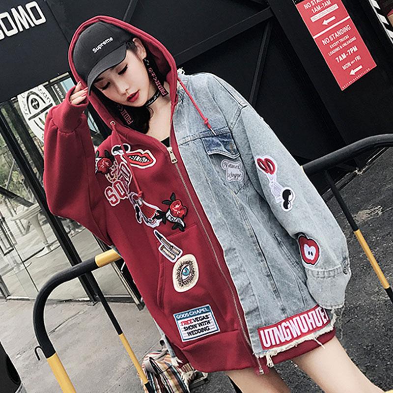【30%OFFクーポン発行中】デニムパーカー レディース アウター デニムジャケット ストリートダンス衣装