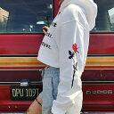 ショート丈 パーカーレディース パーカー 大きめ パーカー ショートパーカー プルオーバー ヘソ出し トップス 長袖 大きい サイズ オーバーサイズ おしゃれ かわいい 原宿系 ファッション 韓国 ファッション ストリート 系 白 ホワイト