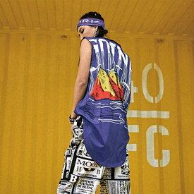 タンクトップ レディース ロング丈 ダンス 衣装 インナー スポーツウェア ヨガ ジム 大きめ 大きいサイズ オーバーサイズ ヒップホップ