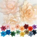 ジャイアントフラワー 手作りキット ダリア 花径45cm カラー7色(ピンク、イエロー、ブルー) 【結婚式やパーティーに!】 ペーパーフラワー ジャンボ ウォールデコレーション 飾り付け ウォールフラ