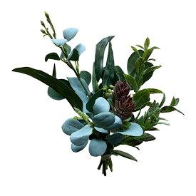 グリーンアソートブーケ 【ウェディング 結婚式受付の飾り付けに】 玄関 造花 アートフラワー