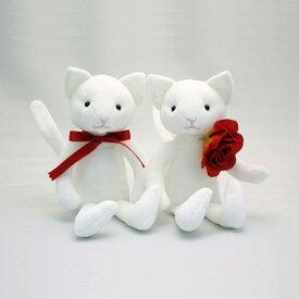 """【送料無料】 猫のウェルカムドール ウェルカムキャット ホワイト """"スマイル""""(顔あり) 【あす楽対応】 ねこ ネコ"""