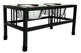 ペット用フードスタンド バロンダブルダイナー ブラック Large テーブル 台
