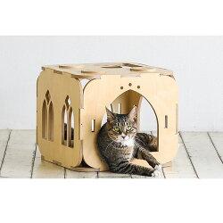 【猫のお城】knookistベーシックブロックbasicblockキャットタワー木製猫タワー猫ベッド