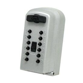 防犯グッズ キーボックス 壁掛け 小型 暗証番号 カギ番人plus(プラス) 壁付け型プッシュ式 PS12 鍵 キーBOX 壁掛