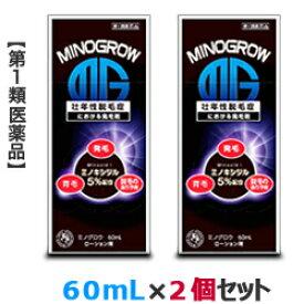 【第1類医薬品】【お得な2個セット】【岩城製薬】ミノグロウ 60mL (抜け毛) 【RCP】