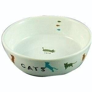 【マルカン】猫用陶器食器 遊ぶ猫 CT−204 ★ペット用品 ※お取り寄せ商品【RCP】【02P03Dec16】
