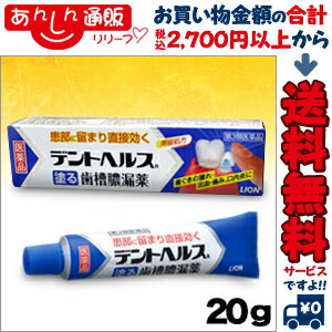 【第3類医薬品】【ライオン】デントヘルスR 20g【RCP】【02P03Dec16】