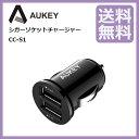 AUKEY USBカーチャージャー(ブラック) 車載充電器 超小型 急速 USB2ポート 4.8A/24W iPhone6s / 6s Plus / 6 / 6...
