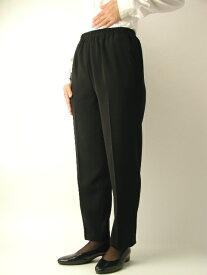 【ミセス】売れ筋■黒パンツ■【S〜5L】【ブラックフォーマルに最適】【5020】