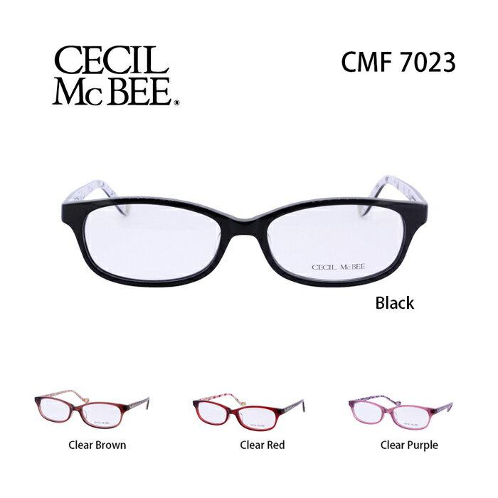 メガネ 度付き レディース セシルマクビー 眼鏡 CMF-7023 レディース ウェリントン 度なし 伊達メガネ CECIL McBEE サイズ:52 国内正規品 かわいい おしゃれ