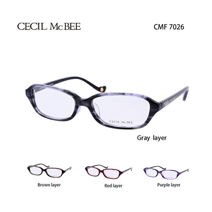 メガネ 度付き レディース セシルマクビー 眼鏡 CMF-7026 レディース ウェリントン 度なし 伊達メガネ CECIL McBEE サイズ:53 国内正規品 かわいい おしゃれ