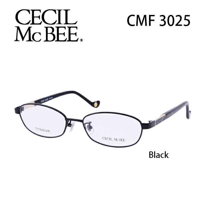 メガネ 度付き レディース セシルマクビー 眼鏡 CMF-3025 レディース ウェリントン 度なし 伊達メガネ CECIL McBEE サイズ:52 国内正規品 かわいい おしゃれ
