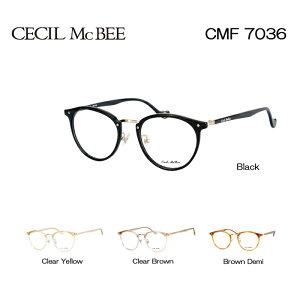 セシルマクビー めがね 眼鏡 CECIL McBEE CMF-7036 レディース ボストン メガネフレーム 度付き 度なし 伊達メガネ サイズ:49 国内正規品 かわいい おしゃれ
