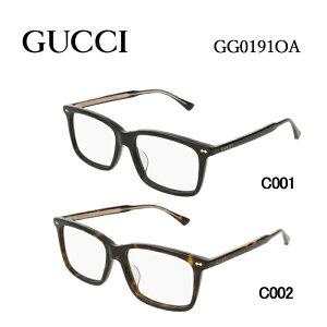 グッチ メガネフレーム GUCCI GG0191OA 男女兼用 ウェリントン 眼鏡 度付き 度なし 伊達メガネ サイズ:54 国内正規品 かわいい おしゃれ 送料無料