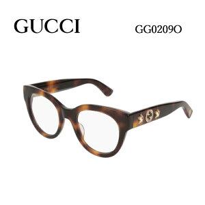 グッチ メガネフレーム GUCCI GG0209O 男女兼用 ウェリントン 眼鏡 度付き 度なし 伊達メガネ サイズ:48 国内正規品 かわいい おしゃれ 送料無料