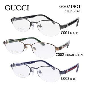 グッチ メガネフレーム GUCCI GG0719OJ レディース オーバル 眼鏡 度付き 度なし 伊達メガネ サイズ:51 国内正規品 かわいい おしゃれ 送料無料
