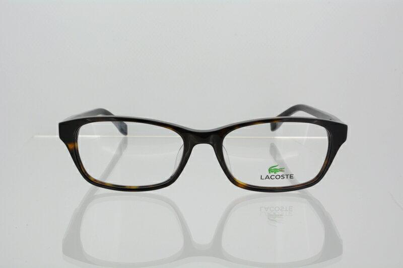 ラコステ メガネ フレーム LACOSTE メンズ ウェリントン 伊達メガネ 度付き・度なし ハバナ l2758a 国内正規品 かわいい おしゃれ
