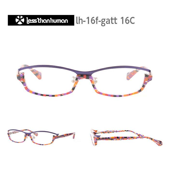 レスザンヒューマン めがね 眼鏡 GATTACA メンズ レディース スクエア メガネ フレーム 度付き 度なし 伊達メガネ サイズ:52 Less Than human 国内正規品 かわいい おしゃれ 送料無料
