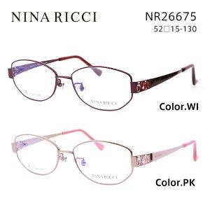 ニナリッチ メガネフレーム NINA RICCI NR26675 レディース その他 眼鏡 度付き 度なし 伊達メガネ サイズ:52 国内正規品 かわいい おしゃれ 送料無料
