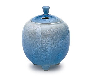 【日本香堂】銀彩ブルー〔小〕 九谷焼〔ギンサイブルー〕【陶器製】【陶器】【九谷焼】【仏具】【仏具単品】【香炉】【送料無料】【スーパーセール ポイント10倍】