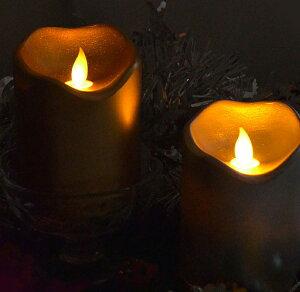 【LEDキャンドル】【在庫限り】RealFrame LEDキャンドルリアルフレイム〔レギュラー〕ゴールド・シルバー【led】【インテリア】【クリスマス】【パーティー】【キャンドルナイト】【ギフト】