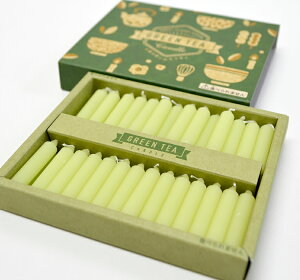 【ろうそく】【GT-03】GREEN TEA〔緑茶キャンドル〕SWEET FLAVOR SERIES【インセンスキャンドル】【ギフト】【日本製】【短時間燃焼】【ミニ寸】【香り付き】【ローソク】【お茶】【緑茶】【お香