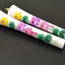 【限定品】【蓮】手描き 絵ろうそく「三色の蓮の花」6号2本入り【絵蝋燭】【絵ローソク】【進物】【お彼岸】【お盆】…