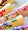 ■ hand painted four seasons depicting paintings candles 12 months flowers flowers 3, 12 pieces
