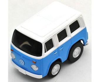 氯-Q 零大眾麵包車白色 / 藍色