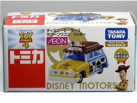 ※箱破れ小有※ 特注トミカ AEON ディズニーモータース ラグーンワゴン ウッディ トイ・ストーリー4 販売店特別仕様車
