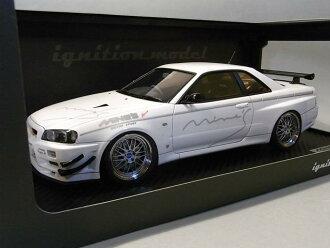 Mine's ignition model 1 / 18 Nissan Skyline gt-r (R34) white (BBS wheels)