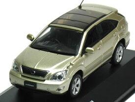 ※箱ヤレ小有※ 【絶版品】京商 1/43 トヨタ ハリアー AIRS 2006 ベージュマイカ